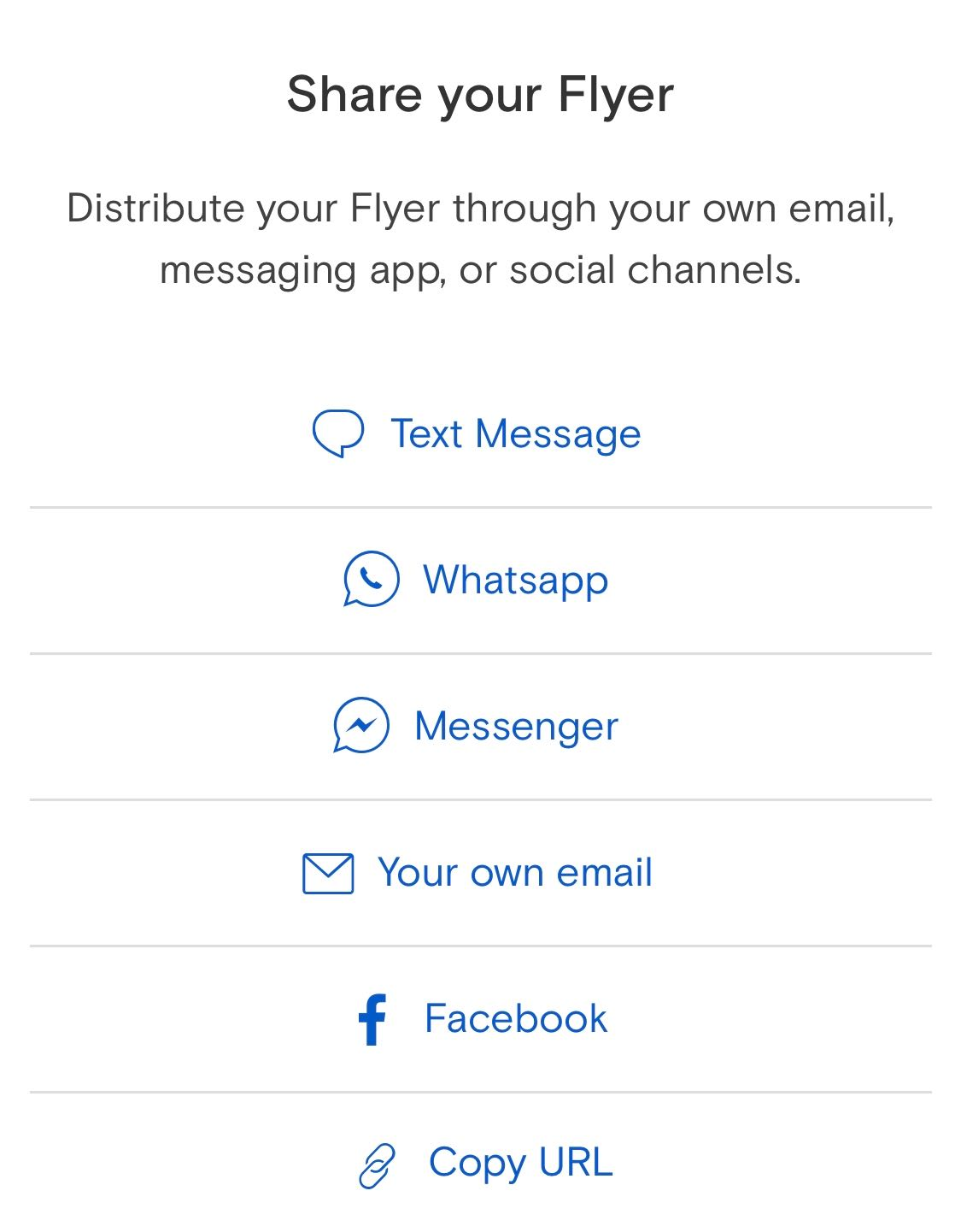 How do I text my Flyer or send from my own email? How do I